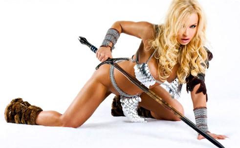 Jenny Poussin in fantasy armor